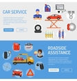 Car Service Banners vector image vector image