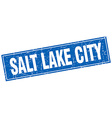 Salt Lake City blue square grunge vintage isolated vector image