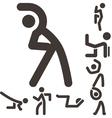 Aerobics icons set vector image