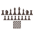 Chess Icon set vector image