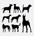 Dog pet animal silhouette 02 vector image