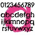 Grunge font full alphabet letter lowercase vector image