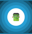 isolated zombie flat icon monster element vector image