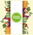 Organic food nutrition vitamins diet vector image