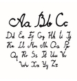 set of watercolor handwriting font vector image