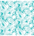 Tropical leaves seamless pattern vector image