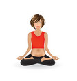 woman doing yoga lotus pose vector image