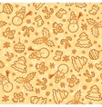 Cookies colors christmas seamless pattern vector image vector image