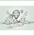 Hot air balloon drawing vector image
