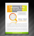 company brochure template vector image