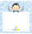 Baby boy with wings vector image vector image