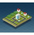 Isometric city map vector image