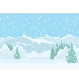 Christmas landscape night winter forest vector image
