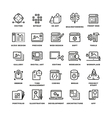 Web and mobile apps development line icons vector image