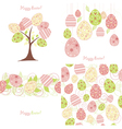 easter background set vector image vector image