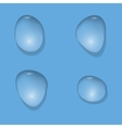 Realistic Water drops vector image vector image