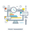 concept of project management vector image