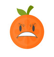 emoji - furious orange isolated vector image
