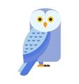 Great horned Owl bubo virginianus subarcticus vector image