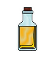 isolated glass bottle vector image
