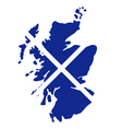 map scotland vector image