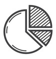 pie chart line icon business and diagram vector image
