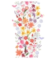 Seamless pattern brush Bunch of field flowers vector image