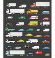 Traffic jam on the road transportation vector image