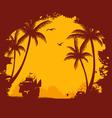 tropic back orange vector image