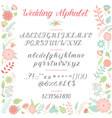 wedding day ceremony alphabet text celebration vector image