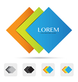 Abstract colorful logo design element eps10 vector image