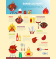 barbecue party infographics vector image vector image