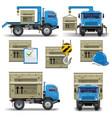 shipment icons set 7 vector image