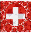 Switzerland soccer balls vector image