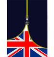 al 0722 zipper GB flag vector image