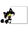 black cat and blank vector image vector image