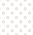 Abstract seamless pattern with stylized stars in vector image vector image