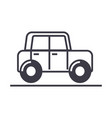 carautovehicle line icon sign vector image