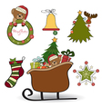 Christmas decoration isolated on white background vector image
