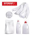 detergents clothes icon set vector image