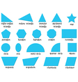 Different shapes vector image