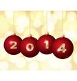 Glass Christmas Balls 2014 vector image