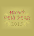 happy new year 2018 folk card vector image