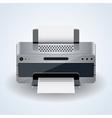 Modern desktop printer icon vector image
