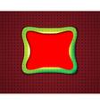 Smooth rectangular frame vector image