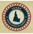 Vintage label Idaho vector image