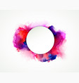 purple blue lilac orange and pink watercolor vector image