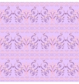 Pink floral seamless pattern ornament background vector image