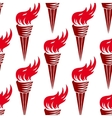 Seamless pattern of red burning torches vector image vector image