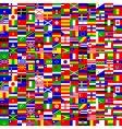 seamless world flags vector image